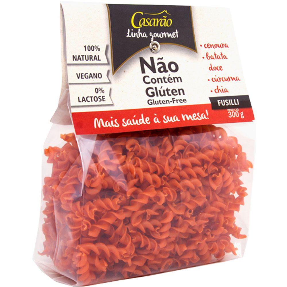 Macarrão de Arroz Fusilli Cenoura/batata doce/Curcuma e Chia 300g