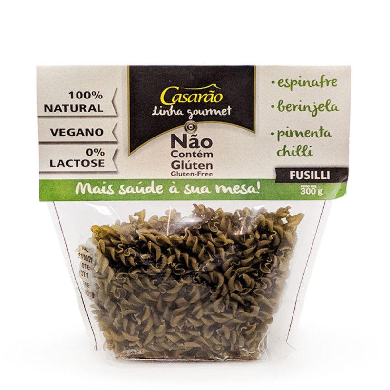 Macarrão de Arroz Fusilli Espinafre/berinjela/Chilli 300g