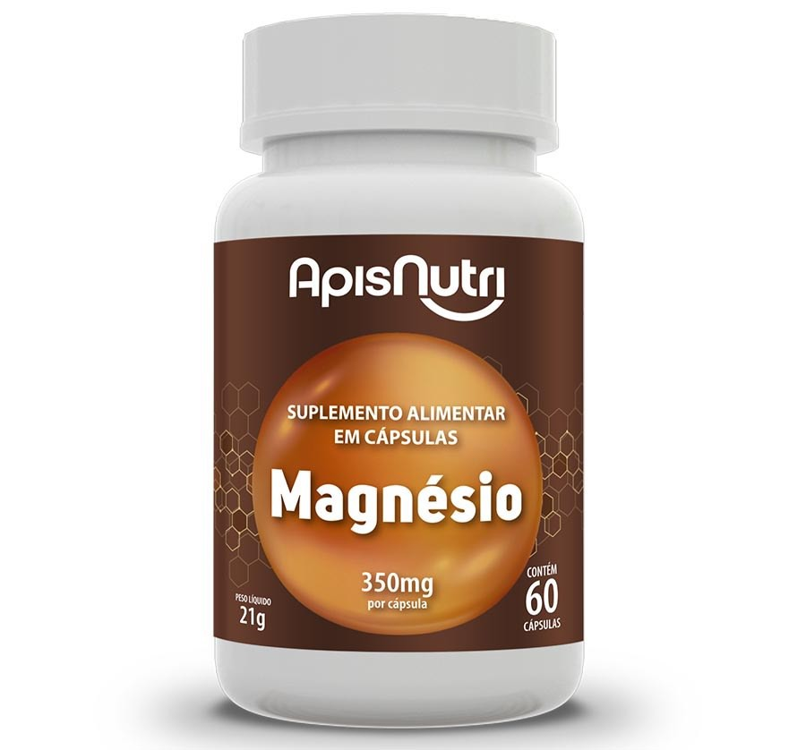 Magnésio 60 Caps 350mg