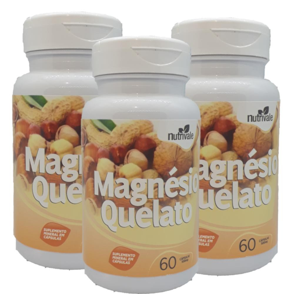 Magnesio Quelato 60 caps 600mg Nutrivale