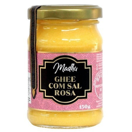Manteiga Ghee com Sal Rosa do Himalaia Madhu Bakery - 150g