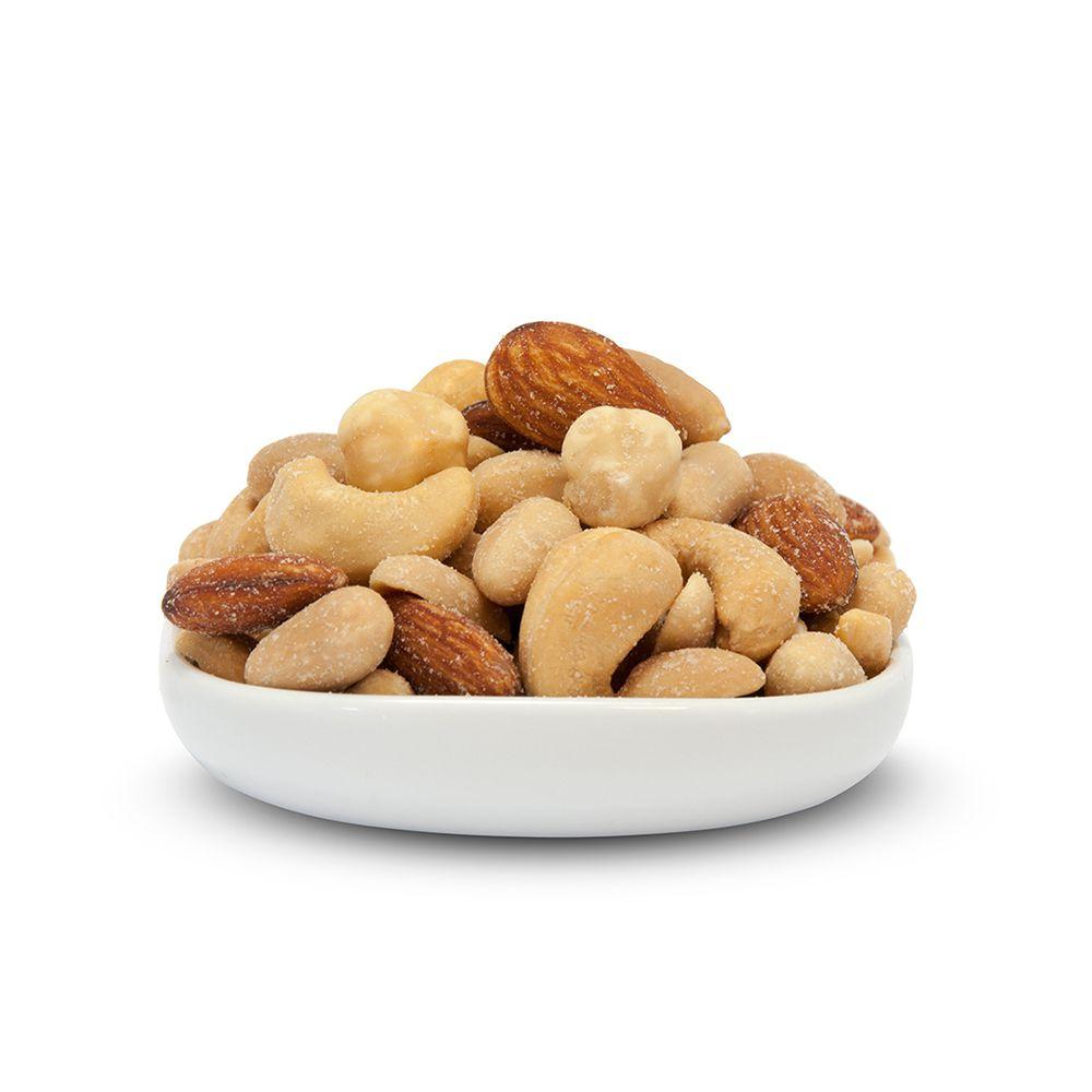 Mix Castanhas/Amendoins Salgados ( Granel 100g )