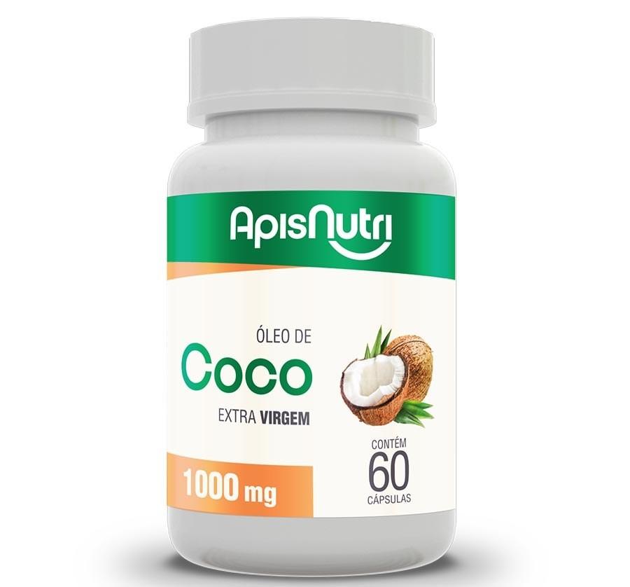Óleo De Coco Extra Virgem 60 Caps 1000 Mg