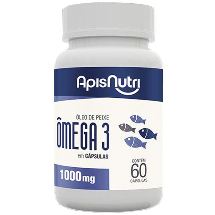Oleo de Peixe Omega 3 - 60 Caps 1g Apis Nutri