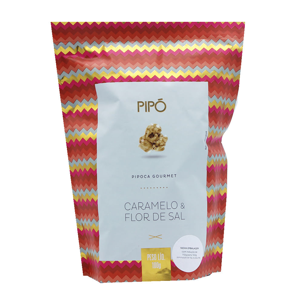 Pipoca Gourmet Caramelo e Flor De Sal 100g - Pipó