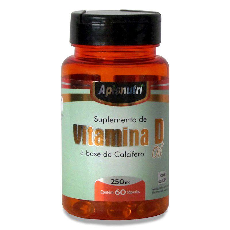 Suplemento de Vitamina D 60 Caps 250 mg
