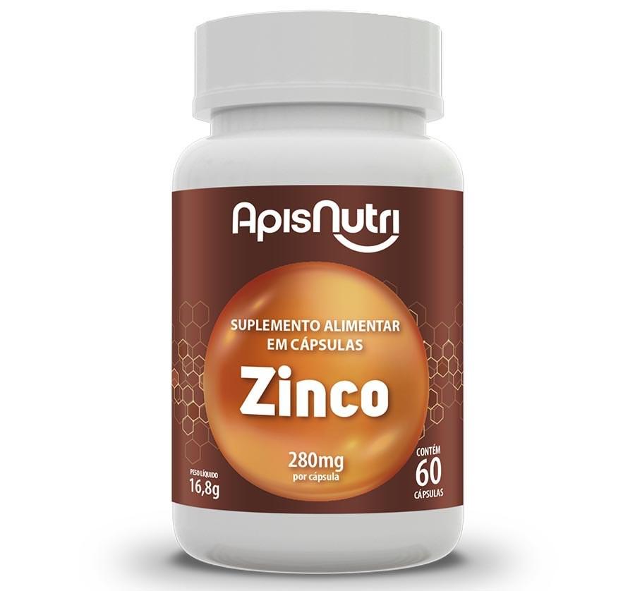 Suplemento Mineral De Zinco 60 Caps 280mg