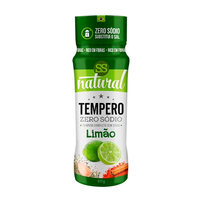 Tempero de Limão Zero Sódio 50g - SS Natural