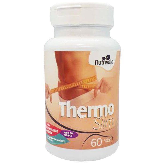 Thermo Slim Canela, Gengibre e Pimenta 60 Cápsulas 500mg