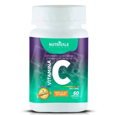 Vitamina C 60 caps 500ml Nutrivale