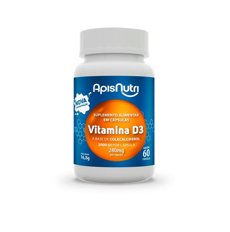 Vitamina D3 - 60 caps 280mg Apis Nutri