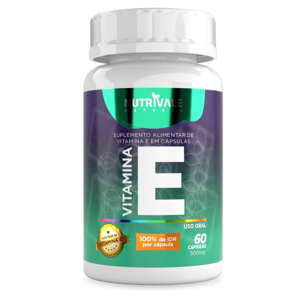 Vitamina E 60caps 500mg Nutrivale