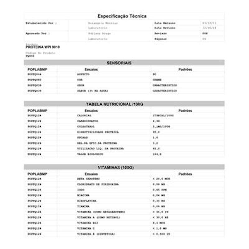 Whey Protein 90% Isolado Hilmar Importado (Granel 100g)