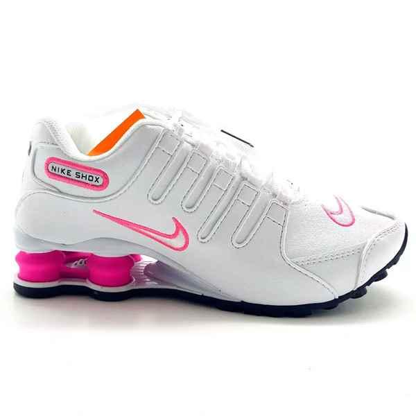tenis nike shox nz rosa feminino