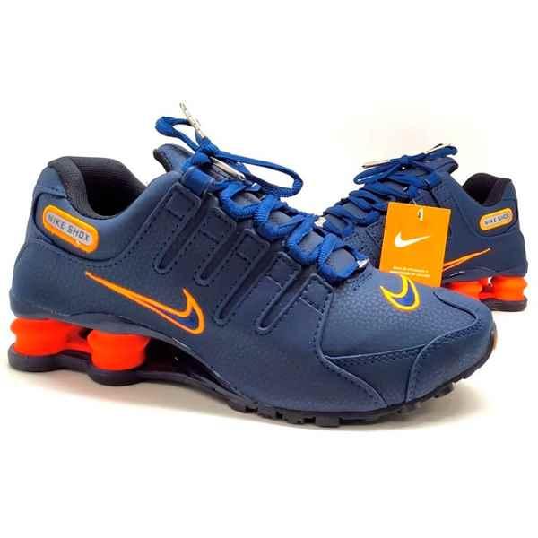 Enciclopedia lección Opiáceo  Tênis Nike Na Promoção Nike Shox Azul Laranja 4 Molas Masculino