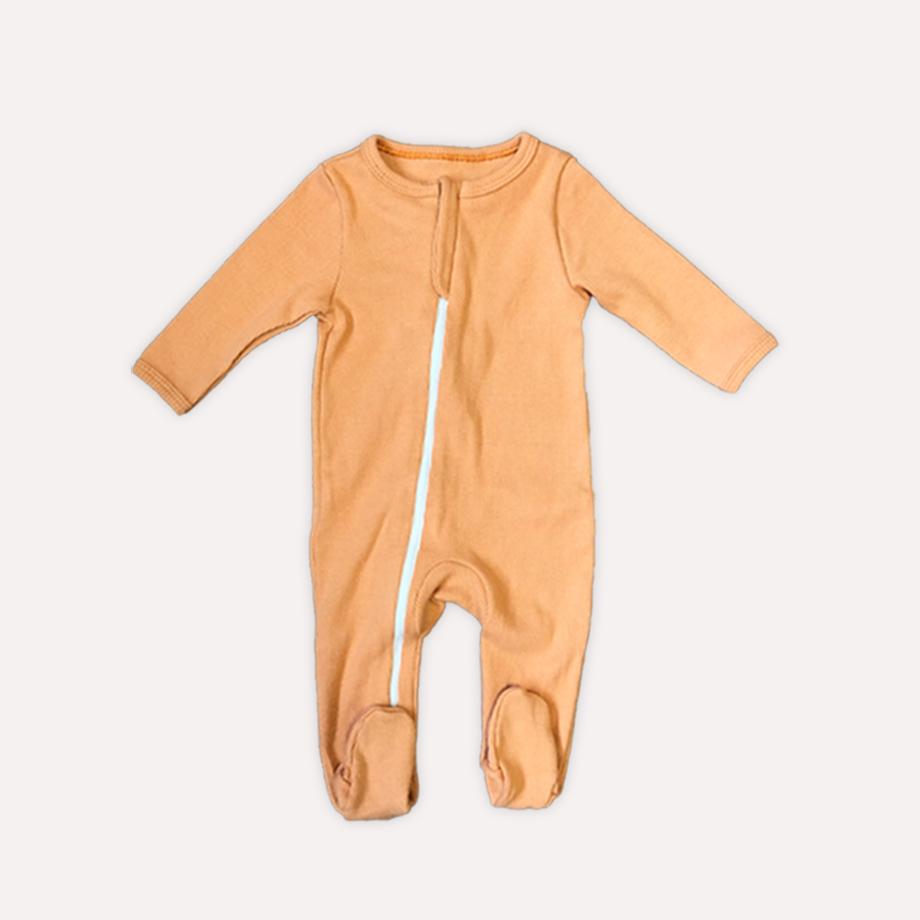 Macacão Pijama Liso Caramelo