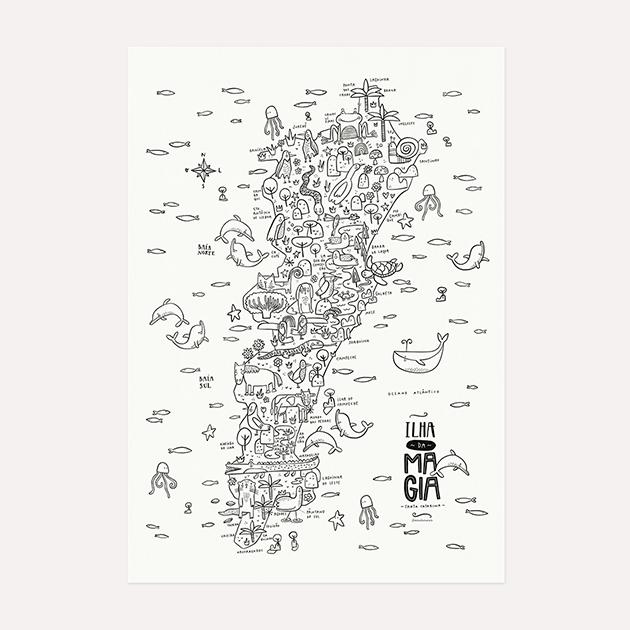 Poster Mapa Floripa - Para Colorir (Ou Não)