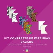Kit Cartaz Contraste e Estampas Vazado