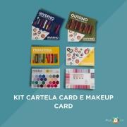 Kit Cartela Card e Makeup Card