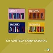 Kit Cartela Card Sazonal - 4 estações