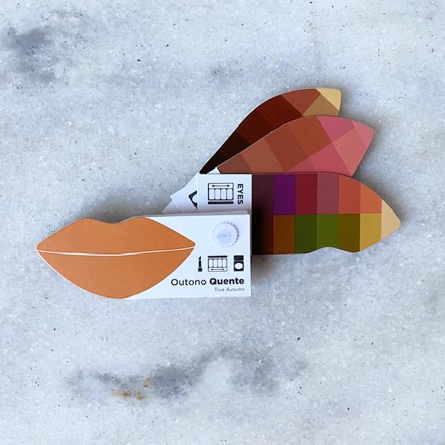 Cartela Batom + Make + Cabelo - Outono Quente