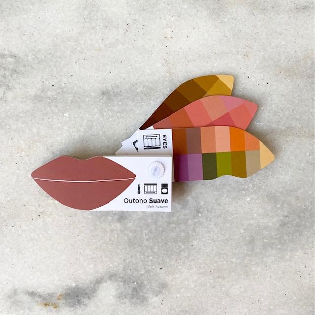 Cartela Batom + Make + Cabelo - Outono Suave