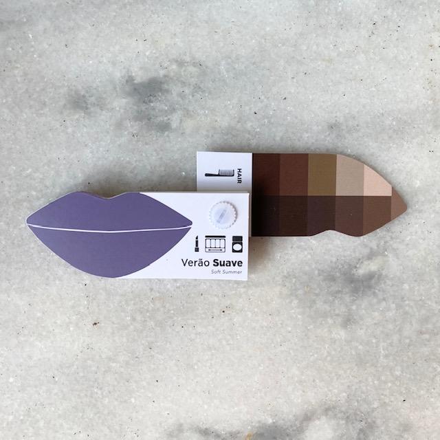 Cartela Batom + Make + Cabelo - Verão Claro