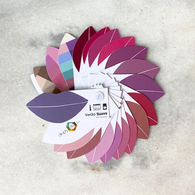 Cartela Batom + Make + Cabelo - Verão Suave