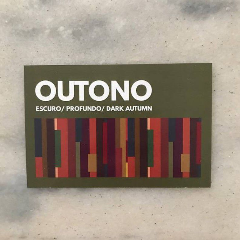 Cartela Card Outono Escuro