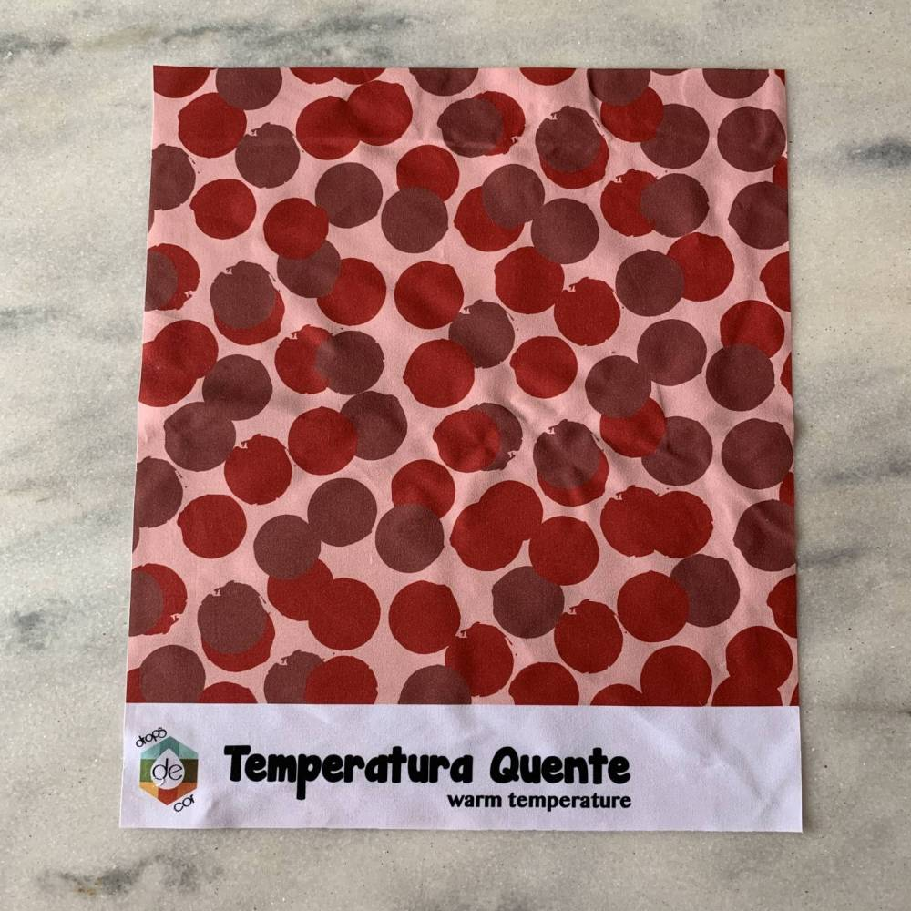 Drapes Temperatura Estampado Compacto