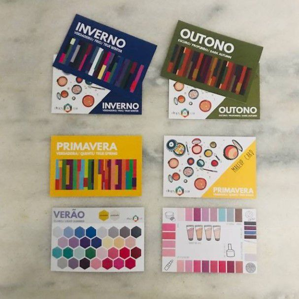 Kit Cartela Card e Makeup Card
