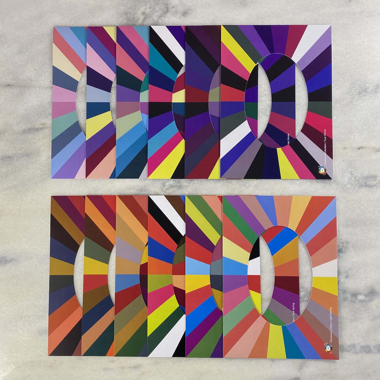 Kit Cartela Paleta e Cartaz Vazado