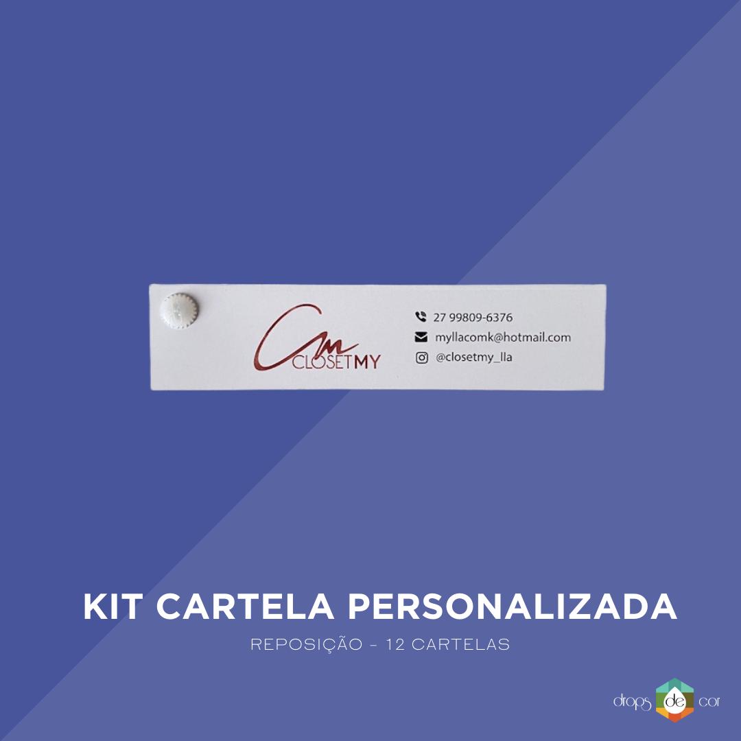 Kit Cartela Personalizada - Reposição 12 cartelas