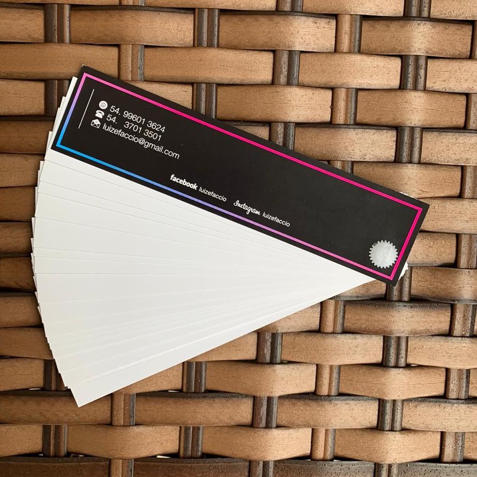 Kit Cartela Personalizada - Reposição 6 cartelas