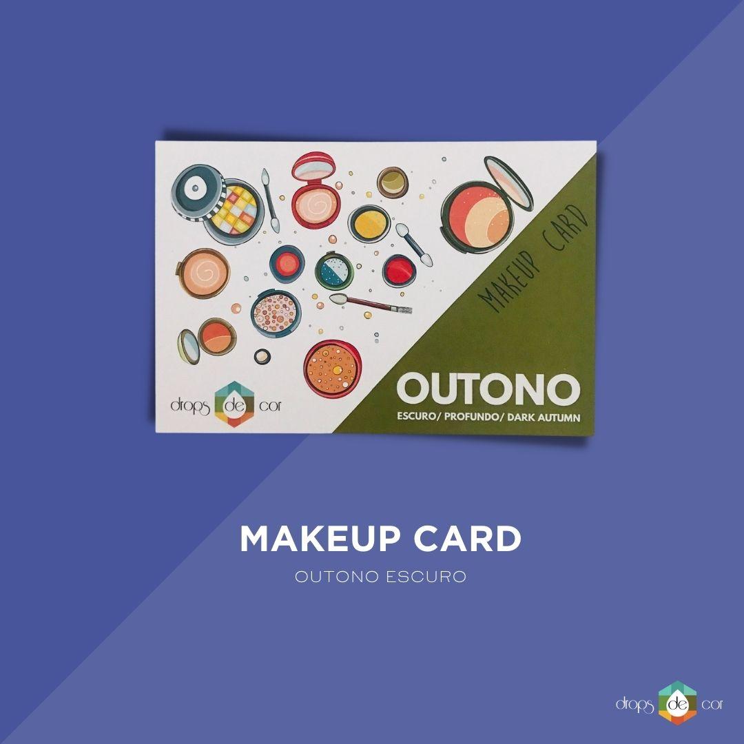 Makeup Card Outono Escuro