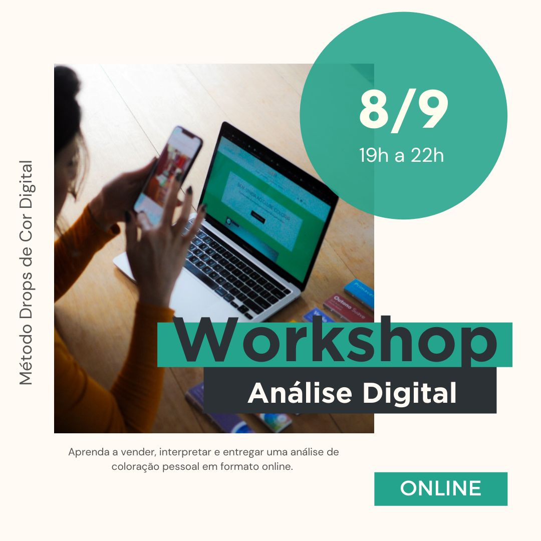 Workshop - AO VIVO -  Análise Digital - 08 de setembro