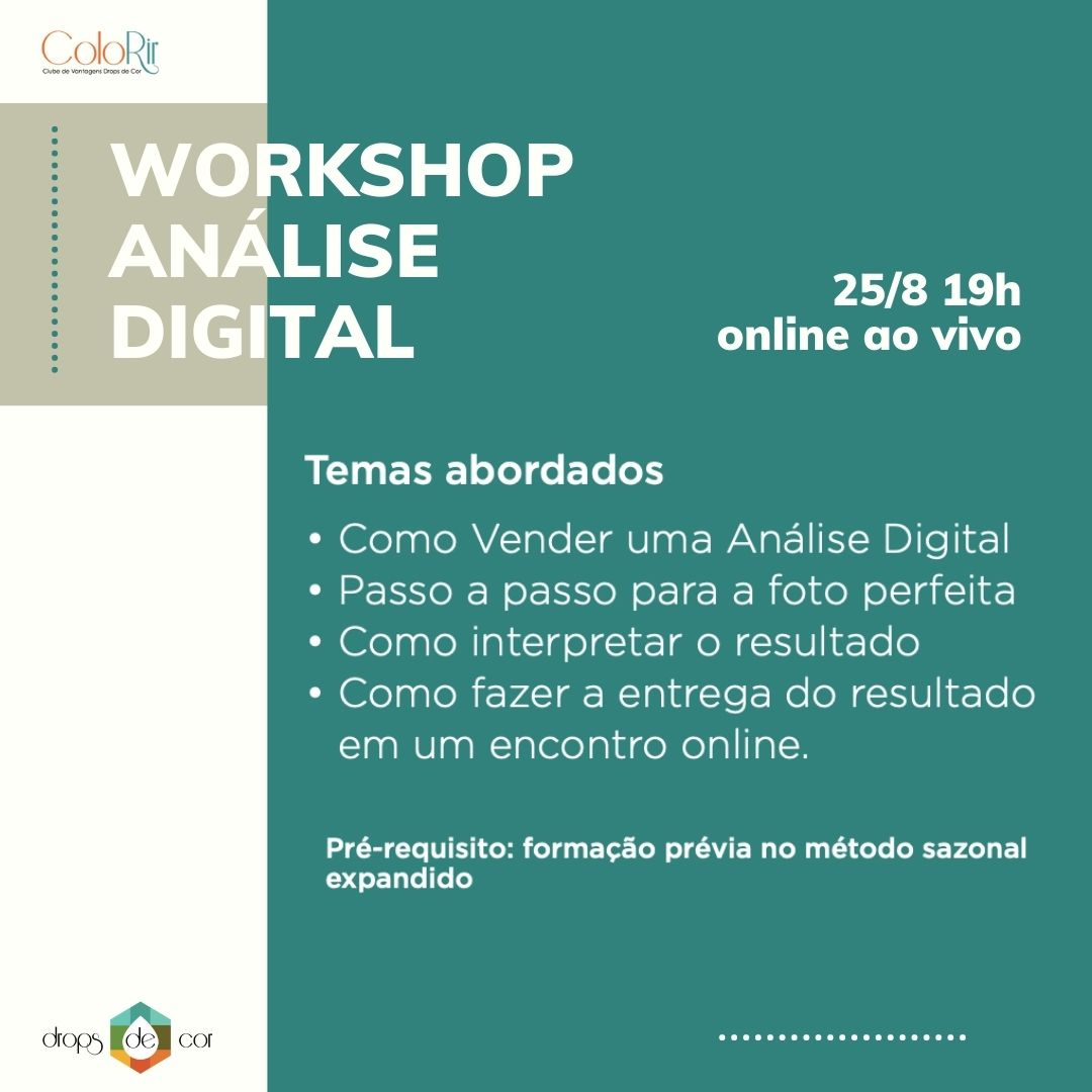 Workshop - AO VIVO - Análise Digital - 25 de Agosto