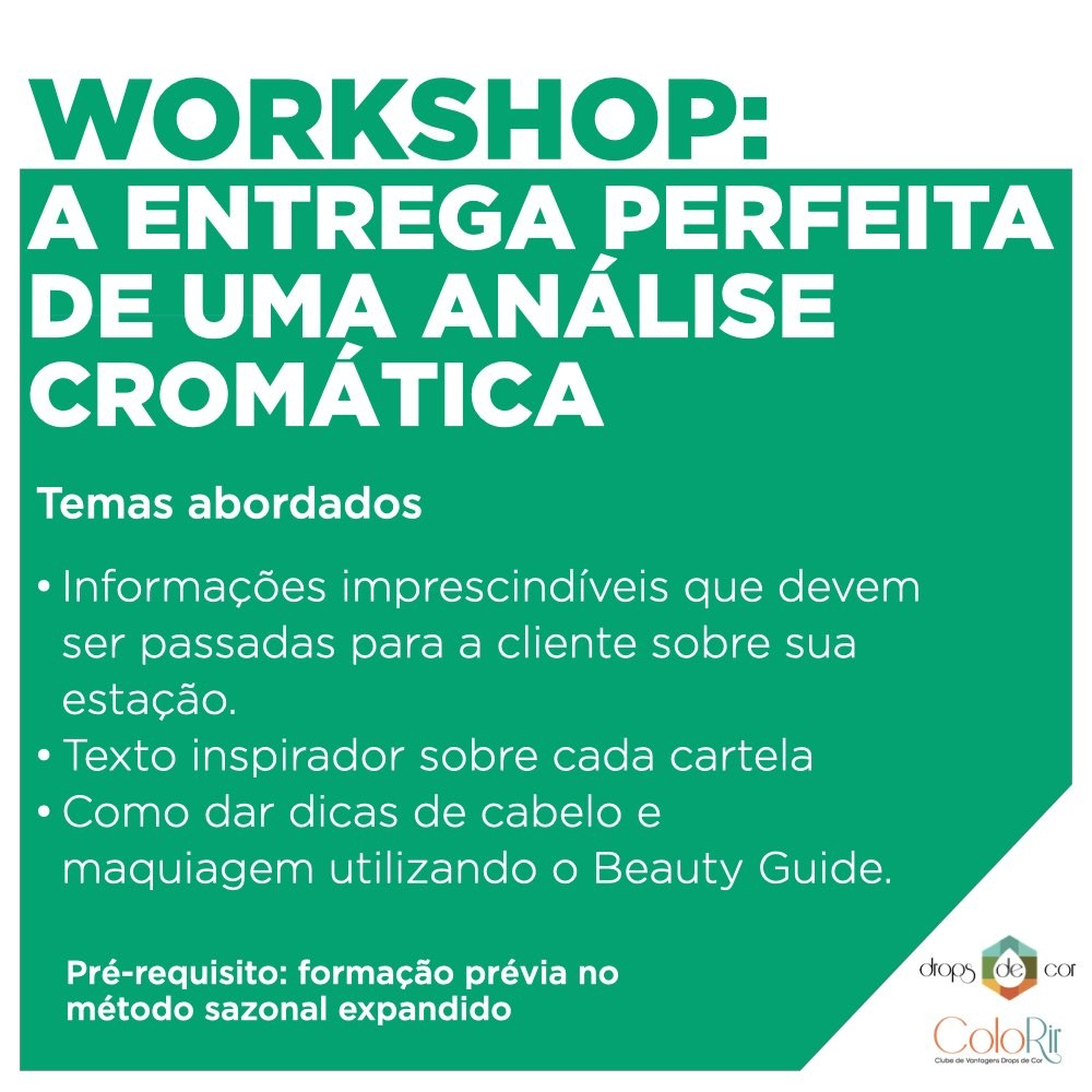 Workshop - AO VIVO - Entrega de uma Análise Cromática Perfeita