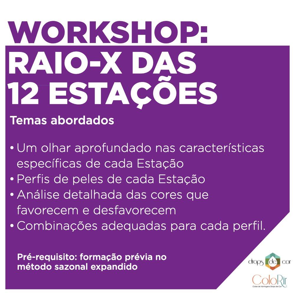 Workshop 1 - ONLINE E AO VIVO - Raio X das Estações - 14 Abril