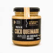 Pasta de Coco Queimado + Chocolate Branco 210g