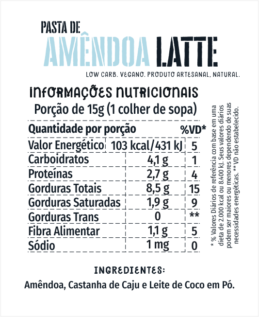 Amendoa Latte 1kg