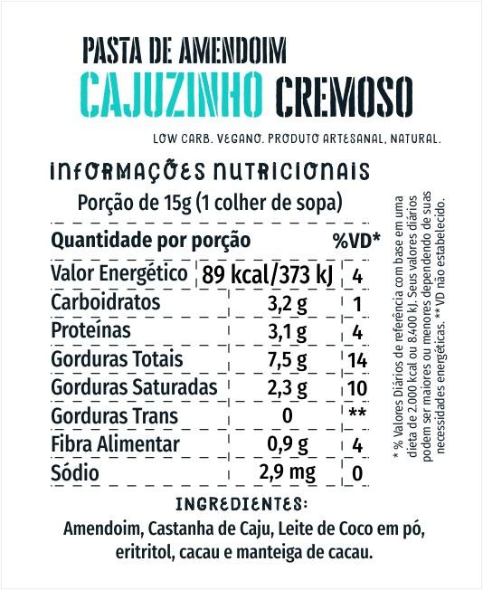 Amendoim Cajuzinho Cremoso 1kg