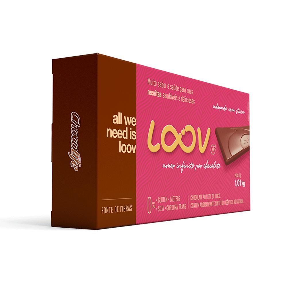 Chocolate Loov ao Leite de Coco 1kg