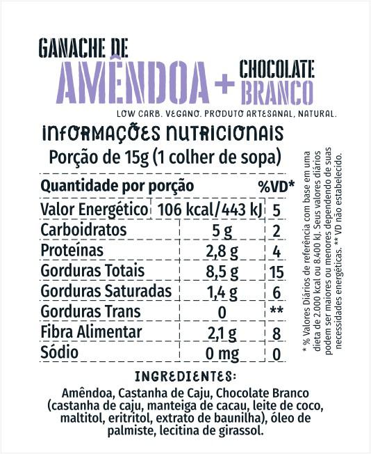 Ganache de Amêndoas Cream 1kg