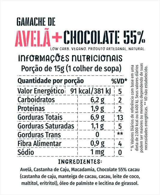 Ganache de Avelã + Cacau 1kg