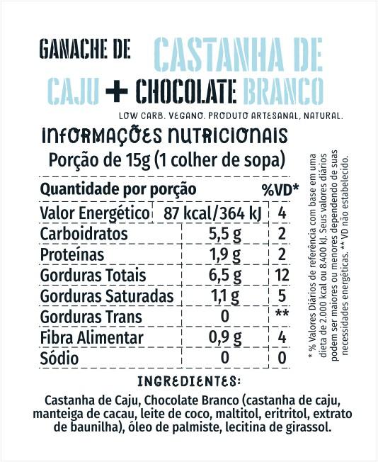 Ganache de Castanha de Caju Cream 1kg