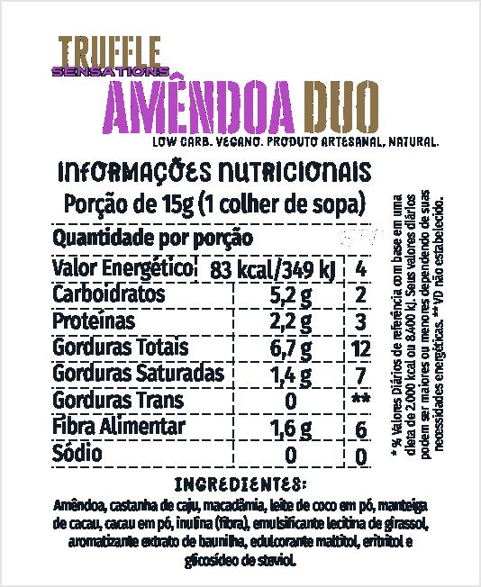 Truffle Amêndoa Duo 200g