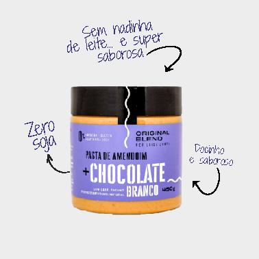 Pasta de Amendoim ao Chocolate Branco