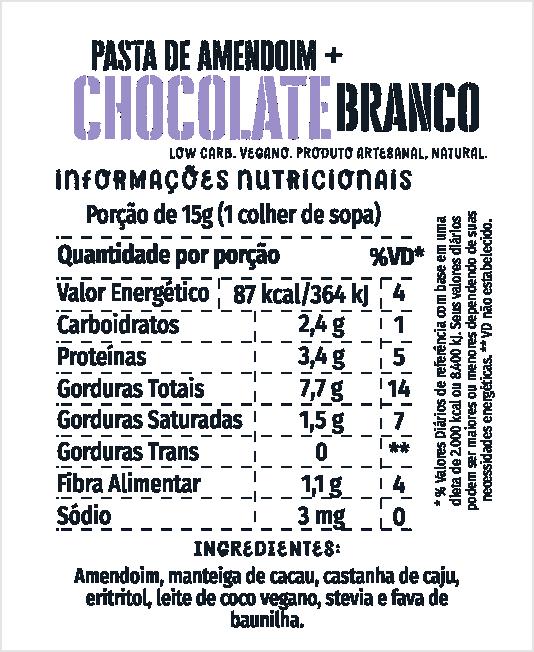 Pasta de Amendoim ao Chocolate Branco 450g