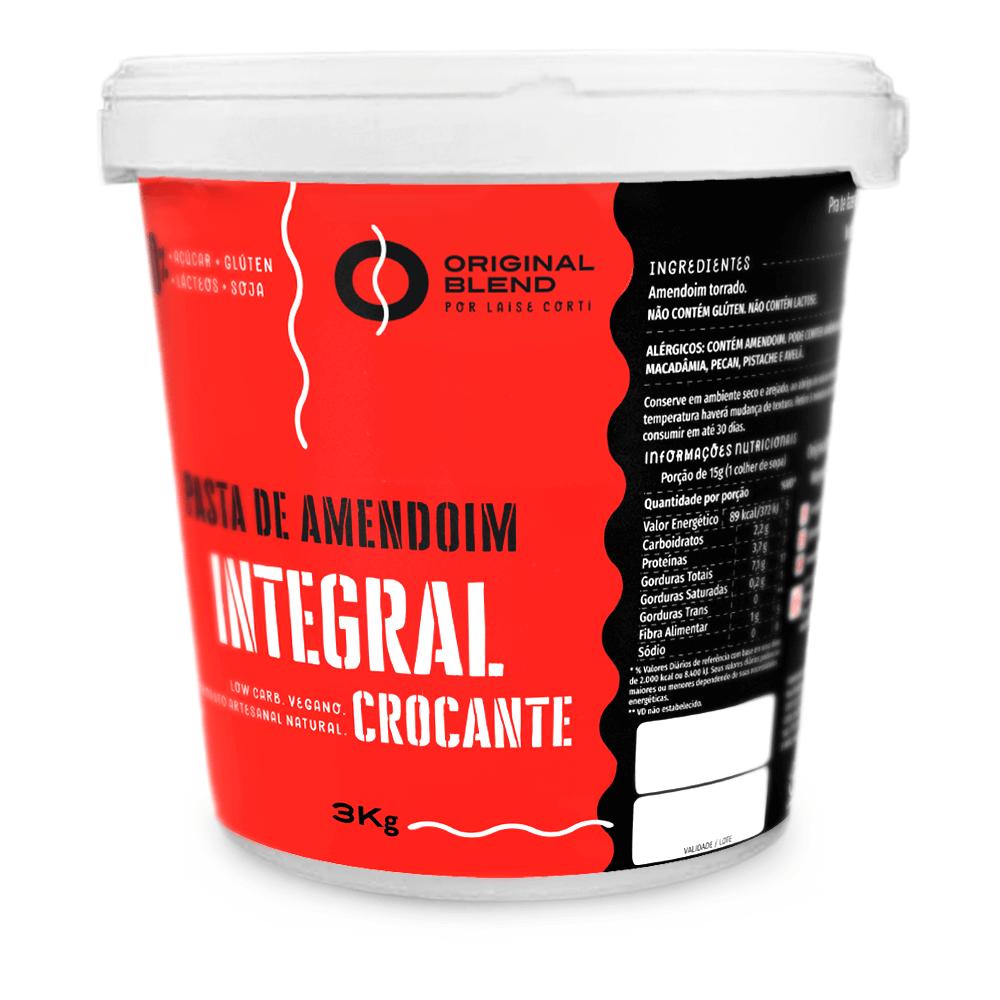Pasta de Amendoim Crocante 3kg